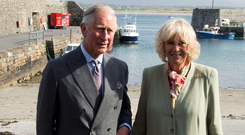 Prince of Wales and his wife Camilla, Duchess of Cornwall visit Mullaghmore in 2015 where his great-uncle Lord Mountbatten was killed in an IRA explosion in 1979