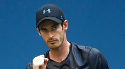 Fitness battle: Andy Murray is pleased with his progress