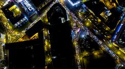 Areal views of the traffic chaos in Belfast on November 8th 2018 (Photo by Kevin Scott for Belfast Telegraph)