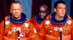 Screen hero: Bruce Willis and Ben Affleck in the movie Armageddon