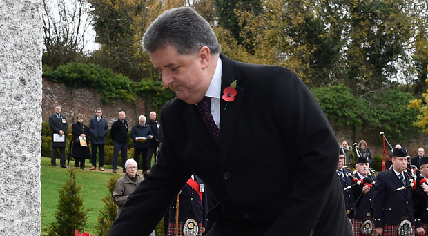 Director General of the Northern Ireland Prison Service, Ronnie Armour, lays a wreath in memory of 32 staff who died in the course of duty