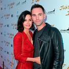 Johnny McDaid and girlfriend Courteney Cox