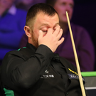 Down and out: Mark Allen (pictured) was beaten by Niu Zhuang