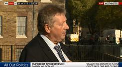 Sammy Wilson appearing on Sky News on Wednesday / Credit: Sky News