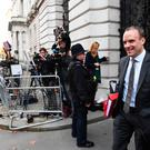 Brexit Secretary Dominic Raab arrives in Downing Street, London, for a Cabinet meeting. Stefan Rousseau/PA Wire