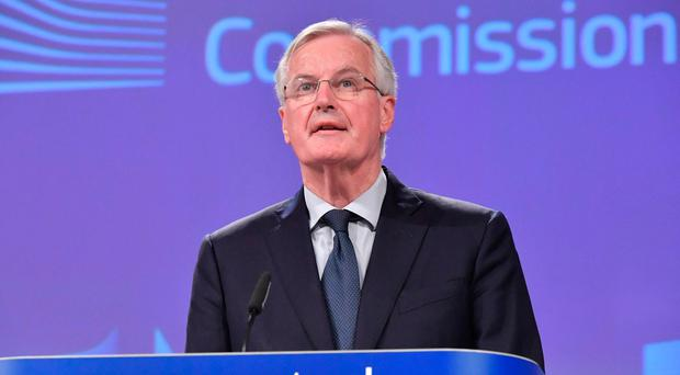 EU chief Brexit negotiator Michel Barnier addresses the press at the European Commission on November 14, 2018, following the approval of a draft Brexit deal by the British parliament. (Photo by Emmanuel DUNAND / AFP)EMMANUEL DUNAND/AFP/Getty Images