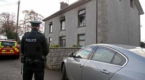 A man has died following a house fire in Co Antrim.