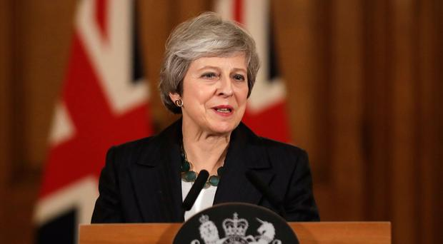 Prime Minister Theresa May holds a press conference at 10 Downing Street, London, to discuss her Brexit plans. Photo credit: Matt Dunhaml/PA Wire