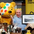 Good cause: Hugo and Pudsey Bear