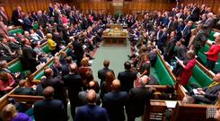 Feelings run high in a packed House of Commons yesterday