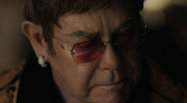 Elton John in The Boy and The Piano, which stars Sir Elton John and his first hit Your Song.