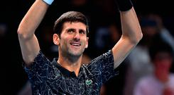 Marching on: Novak Djokovic
