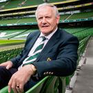 In the hotseat: IRFU President Ian McIlrath at the Aviva Stadium