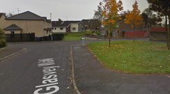 The incident took place in the Glasvey Walk area. Credit: Google.