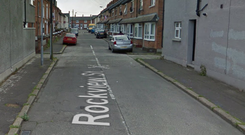 Two of the burglaries took place on Rockview Street. Credit: Google.
