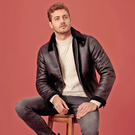 Aviator Jacket, £40, lambswool jumper, £16, jeans, £16, Chelsea boots, £22, F&F at Tesco