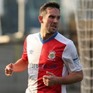 Goal scorer: Andy Waterworth savoured Brandywell return