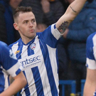 Making a point: Coleraine's Darren McCauley equalises