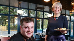Karen Hoey, business manager at Danske Bank, and Richard McCracken, owner and head chef at Cyprus Avenue