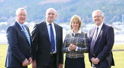 The four UK farming union presidents: Andrew McCornick, NFU Scotland; John Davies, NFU Cymru; Minette Batters, NFU England; and Ivor Ferguson, Ulster Farmers Union.