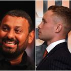 Prince Naseem Hamed (centre) reckons he'd beat both Josh Warrington (left) and Carl Frampton (right) in his prime.