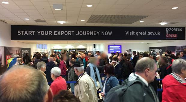 Long queues have been reported at Belfast International throughout the year. [File pic]