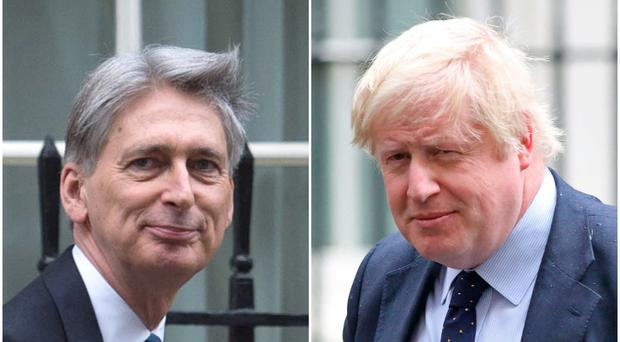 Philip Hammond and Boris Johnson are set to appear in Northern Ireland this weekend