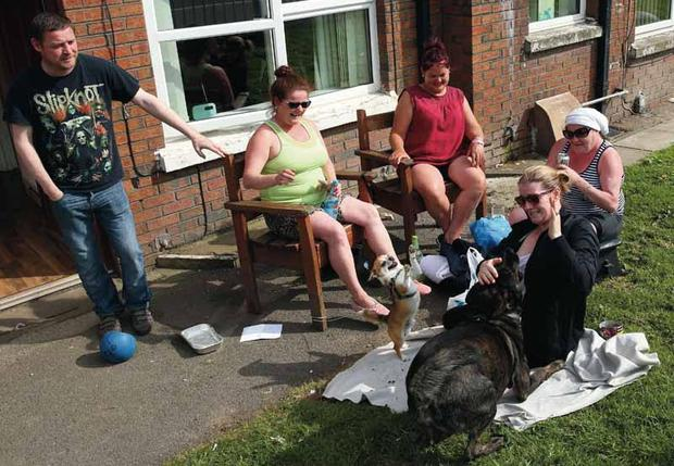 A Belfast family enjoying the weather