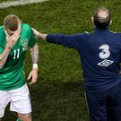 James McClean has reacted emotionally to Martin O'Neill's departure from his role as Republic of Ireland boss.