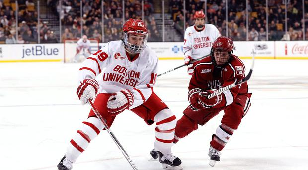 College debut: Boston University will be in action at the SSE Arena this weekend in the Friendship Four competition