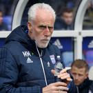 "Mick McCarthy during the Championship match at St Andrews, Birmingham. PRESS ASSOCIATION Photo. Picture date: Saturday March 31, 2018. See PA story SOCCER Birmingham. Photo credit should read: Chris Radburn/PA Wire. RESTRICTIONS: EDITORIAL USE ONLY No use with unauthorised audio, video, data, fixture lists, club/league logos or ""live"" services. Online in-match use limited to 75 images, no video emulation. No use in betting, games or single club/league/player publications."