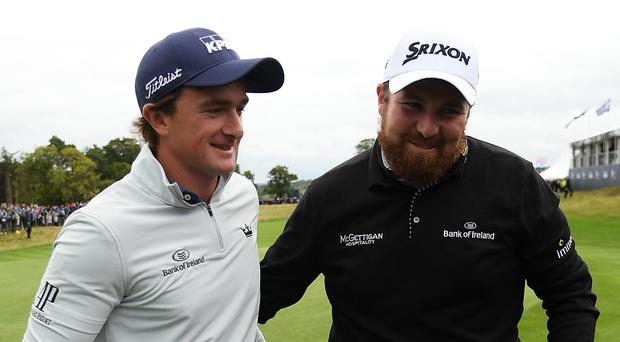 Paul Dunne and Shane Lowry are in action for Ireland in the World Cup of Golf.