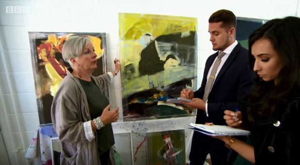 Northern Ireland artist Eleanor Carlingford appearing the BBC's The Apprentice / Credit: BBC