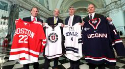 Representatives from all four competing teams at the Friendship Four