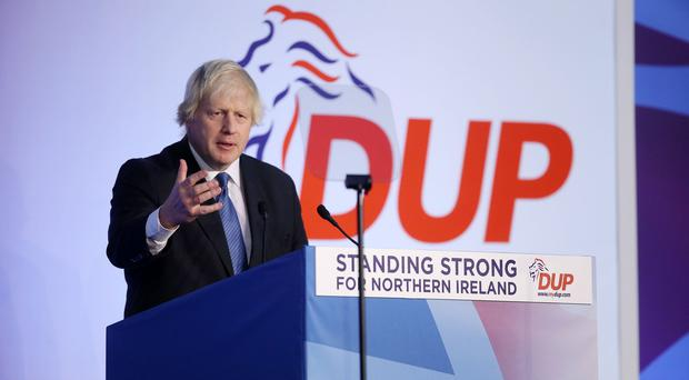 Boris Johnston MP pictured at the Crowne Plaza Hotel in Belfast. Photo by Kelvin Boyes / Press Eye.
