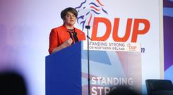 Leader Arlene Foster pictured at the DUP annual conference at the Crowne Plaza Hotel in Belfast. Photo by Kelvin Boyes / Press Eye.