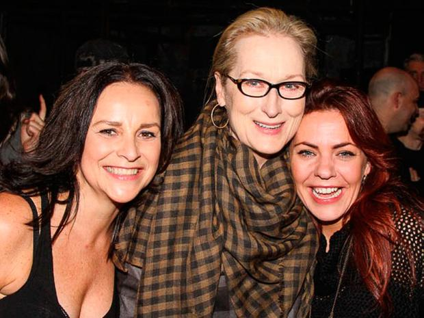 Sunday Life News Rachel Tucker with the last ship cast member Sally Ann Triplett and Meryl Streep