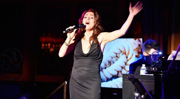 The Last Ship Company in Concert: Songs in the Quay of Life...NEW YORK, NY - MARCH 02: Rachel Tucker performs onstage during The Last Ship Company in Concert: Songs in the Quay of Life at 54 Below on March 2, 2015 in New York City. (Photo by Theo Wargo/Getty Images)