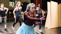 Show time: Ruby Campbell at rehearsals for Alice: The Musical