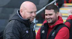 Mind games: David Jeffrey and David Healy will meet twice in quick succession