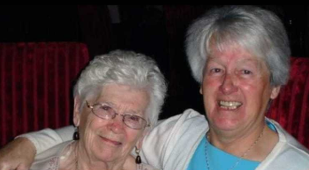 Annie Cahill (right) with the late Lily Hall.