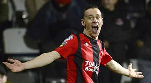 Paul Heatley has now netted seven goals in as many matches.