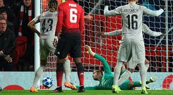 David De Gea makes his latest awe-inducing save at Old Trafford.