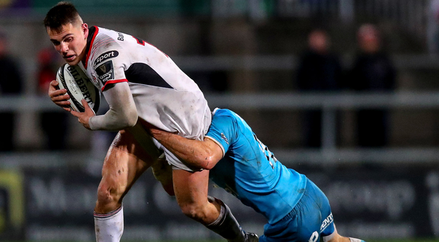 Rising talent: James Hume on the charge against Uruguay at Kingspan this month