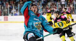 All smiles: Belfast Giant's Darcy Murphy is in high spirits