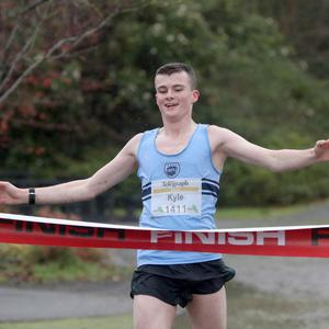 Press Eye - Belfast Telegraph - Run Forest Run Series - Loughgall Forest Park - 1st December 2018 Photograph by Declan Roughan 1st place 5k (16th birthday today) Kyle Ross.