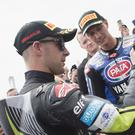 Jonathan Rea (left) is tipping Michael Van Der Mark for a big future in World Superbike.