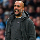 Managerial pressures: Manchester City boss Pep Guardiola says emotions can run high in the big games