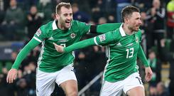 Class acts: Niall McGinn and Corry Evans will be hoping to guide Northern Ireland to Euro 2020