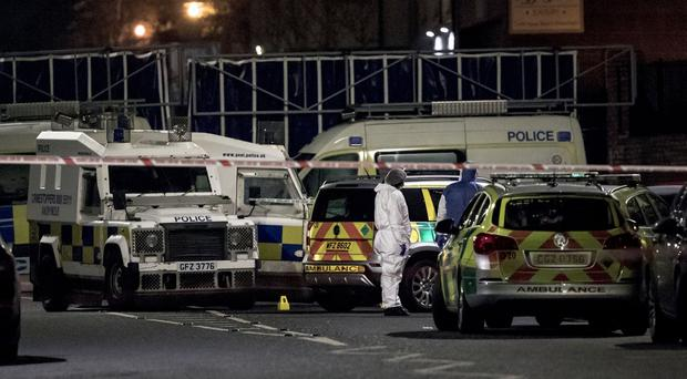 Police and forensics at the scene of a shooting incident on the Glen Road, west Belfast where a man has been murdered on December 3rd 2018 (Photo by Kevin Scott for Belfast Telegraph )